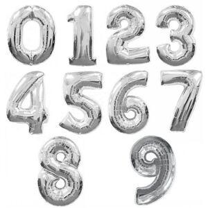 Amscan Supershape sølv antall ballonger 7