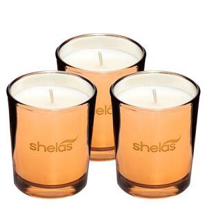 Shela`s Shelas Duftlys Krydret Vanilje Metallisk Glass Krukke 3stk