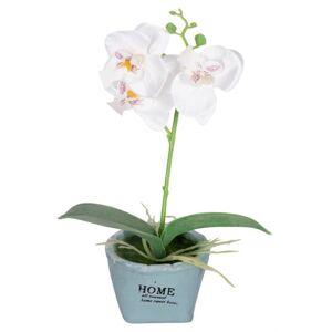 Jysk Partivarer Hvit Lavendelblomst - I en lekker potte - Høyde på 15 cm - Flott kunstig lavendel