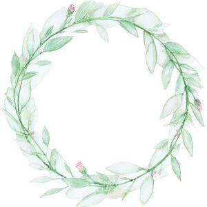 That's Write Wallsticker Flower Wreath, Grønn