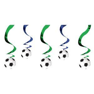 Amscan Swirls Fotbollar Hängande Dekoration - 6-pack