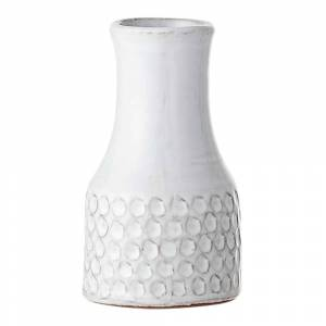 Bloomingville Vas Vit Terrakotta prick 14 cm