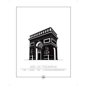 Sverigemotiv Arc De Triomphe Paris Poster 40x50cm