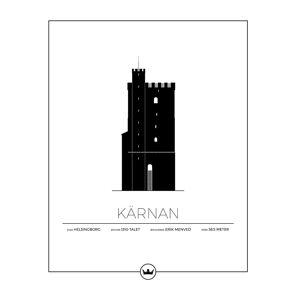 Sverigemotiv Kärnan Helsingborg Poster 40x50cm