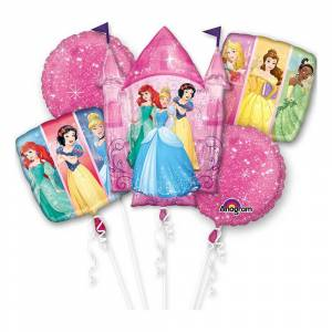 Amscan Ballongbukett Disneyprinsessor - 5-pack