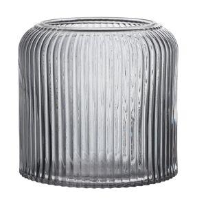 Bloomingville Vas, Grå, Glas Ø15xH14 cm