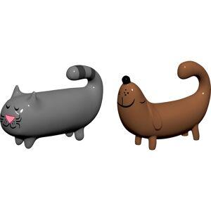Alessi Porslinsfigurer Katt & Hund Handmålade