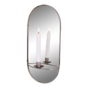 Strömshaga Spegel m. Ljushållare Silver