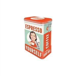 Bromma Kortförlag Plåtburk m. Spännlock Espresso Yourself