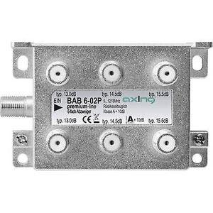 Axing BAB 6-02P kabel-TV splitter 6-veis 5 - 1218 MHz