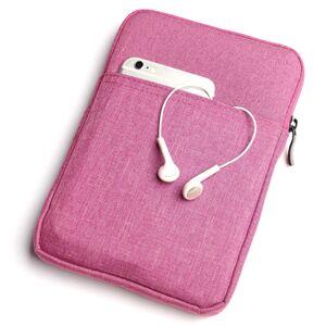"""Mobiilitukku Kankainen 7"""" Tabletin Suojapussi, Pinkki"""