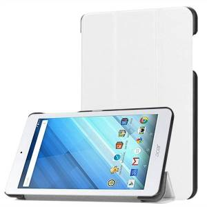 Acer Futteral / mobilfutteral med holder for Acer Iconia One 8 B1-860 / B1-850 - Hvit