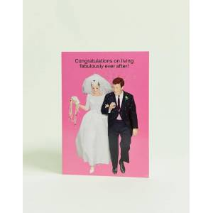 Life Is Rosie congratulations on living fabulously card - Multi