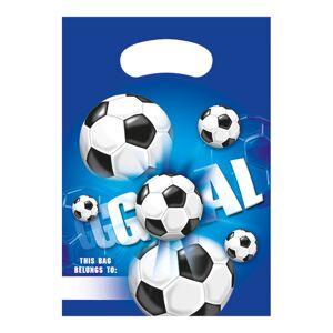 Globos Europe Kalaspåsar Fotboll Blå - 6-pack
