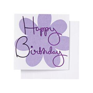 Ordning & Reda O&R Gratulationskort Födelsedag 7,5x7,5 cm, Lila