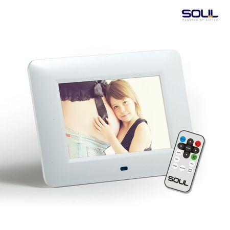 SOUL Porta Retrato Digital 7 Polegadas Branco - Soul
