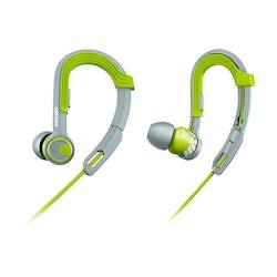 Philips Fone de Ouvido Esportivo Philips SHQ3300 à Prova de Água e Suor Cinza Verde Cla