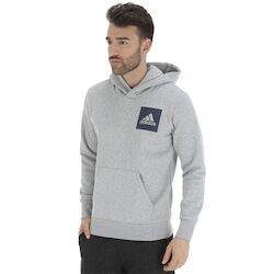 adidas Blusão de Moletom com Capuz adidas Essentials Logo PO - Masculino - CINZA