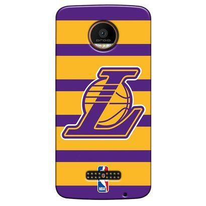 Capinha para Celular NBA - Motorola Moto Z - Los Angeles Lakers - E02 - Unissex