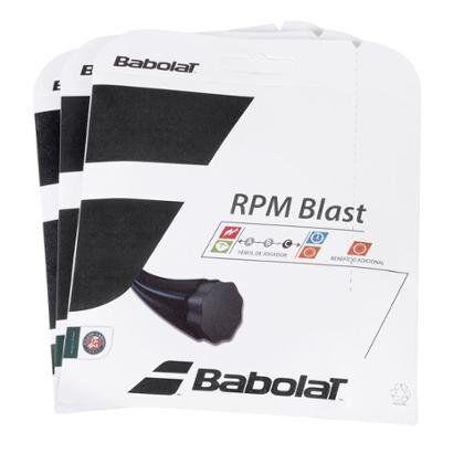 Corda Babolat RPM Blast Rough 17L 1.25mm - Pack com 3 Sets - Unissex