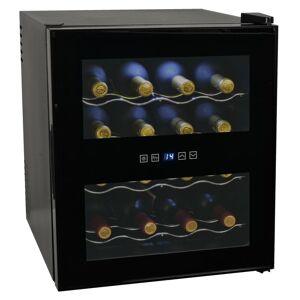vidaXL Vinkjøler 48 L 16 flasker LCD-skjerm