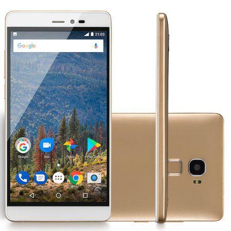 Mirage Smartphone Mirage 82S Sensor de Impressão Digital 4G Tela 5,5 Ram 2GB Dual Câmera Quad Core Dourado 1008