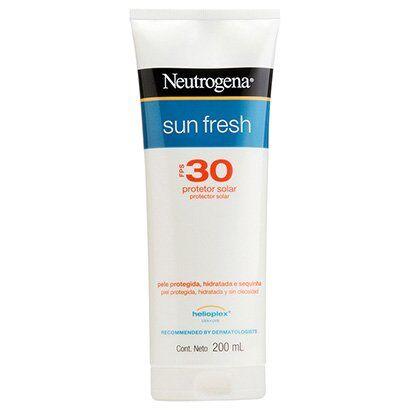 Neutrogena Protetor Solar Sun Fresh FPS 30 200ml - Unissex-Incolor