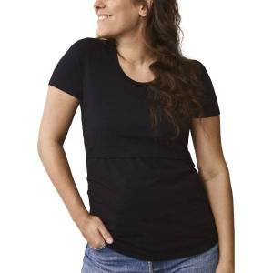 Boob Nursing Short Sleeve - Black