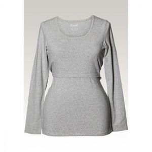 Boob, Classic long-sleeved top, grey melange