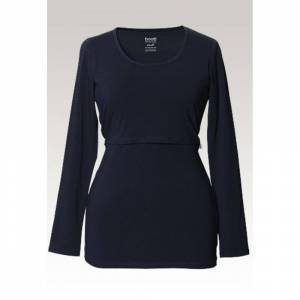 Boob, Classic long-sleeved top, midnight blue