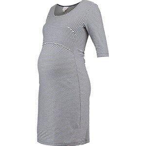 Boob Eva Striped Dress Tofu/Soft Ink 36
