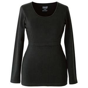 Boob Nursing Top Long Sleeve Black S