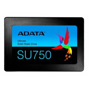 A-Data ADATA SU750 SSD-levy, 256GB, SATA, 3D NAND, SLC, 550MB/s, Musta