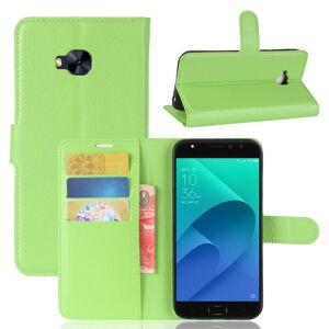 Asus Zenfone 4 Selfie Pro (Zd552kl) Soft Pouch Skinndeksel Med Lommebok Grønn