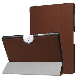 Acer Iconia One 10 B3-A40 Deksel - Tri-Fold Skinndeksel Med Stativfunksjon - Brun