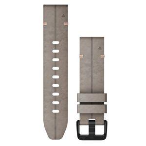 Garmin Quickfit 20 Leather - Klockarmband - Grafitgrå