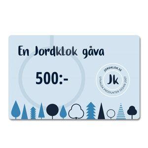 Jordklok Digitalt Presentkort, 500 kr