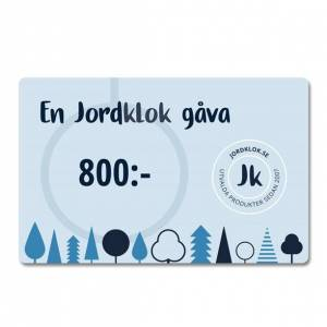 Jordklok Digitalt Presentkort, 800 kr