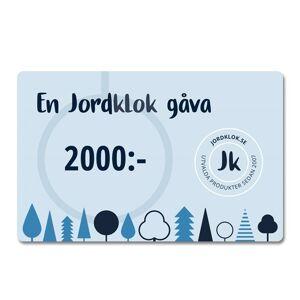 Jordklok Digitalt Presentkort, 2000 kr