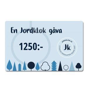 Jordklok Digitalt Presentkort, 1250 kr