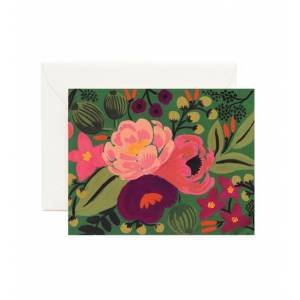Rifle Paper Co Vintage blossoms green card, rifle paper co