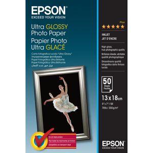 Epson 13x18cm Ultra Glossy Photo Paper 300g, 50 Ark