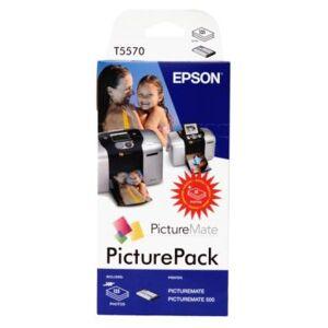 Epson PictureMate PicturePack 6x13ml + 135 Fotopapir blankt 10x15 T5570 Tilsvarer: N/A