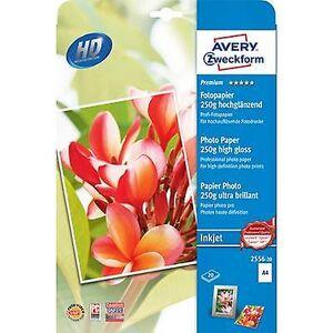 Avery Zweckform Avery-Zweckform Premium fotopapir Inkjet 2556-20 fotopapir a4 250 GM ² 20-arks høy glans