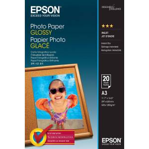 Epson Blank - A3 (297 x 420 mm) - 200 g/m² - 20 ark fotopapir - for Expression Photo HD XP-15000; Expression Premium XP-540; WorkForce WF-3620, 7720, 7725