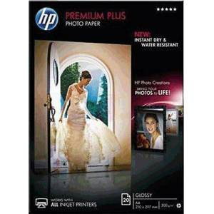 HP CR672A HP Papir A4 Premium Plus Glossy Photo 300g 20stk