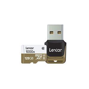 Lexar 64Gb Micro SDXC 1000X UHS-II Med kortleser