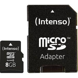 Intenso 8 GB Micro SDHC-kort microSDHC kort 8 GB klasse 4 inkl SD kortet