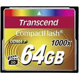 Transcend Overskride ultimate 1000x CompactFlash-kort 64 GB