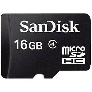 SanDisk SDSDQM-016G-B35 microSDHC kort 16 GB klasse 4
